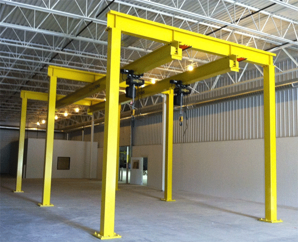 Free standing monorail system