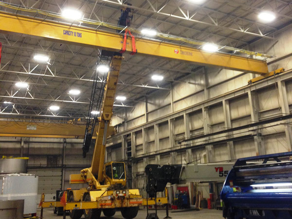 New 10 Ton 76' Span Monobox Bridge Crane